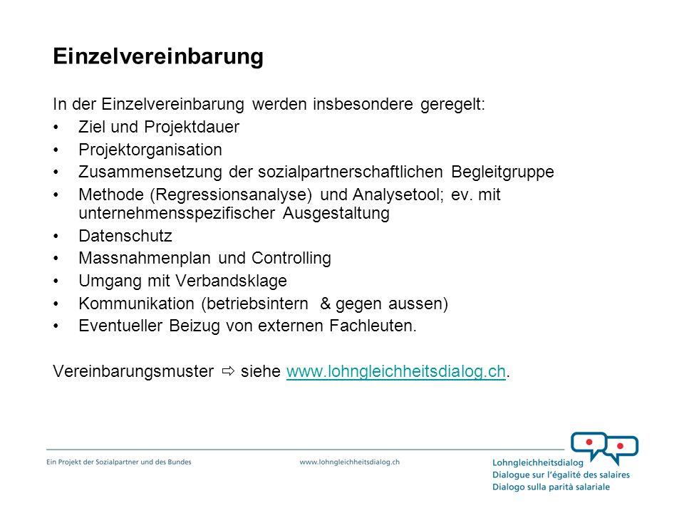 Einzelvereinbarung In der Einzelvereinbarung werden insbesondere geregelt: Ziel und Projektdauer. Projektorganisation.