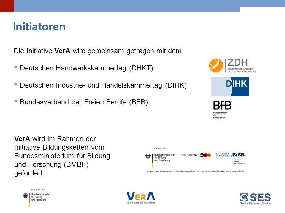 Initiatoren Die Initiative VerA wird gemeinsam getragen mit dem