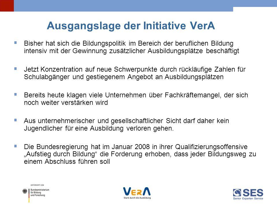 Ausgangslage der Initiative VerA