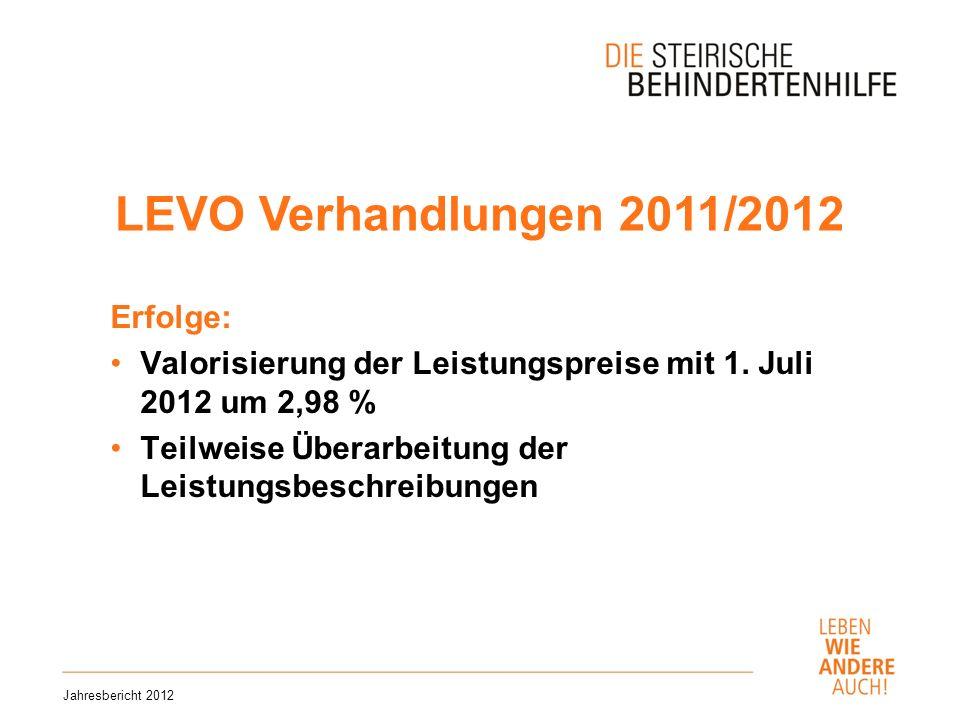 LEVO Verhandlungen 2011/2012 Erfolge: