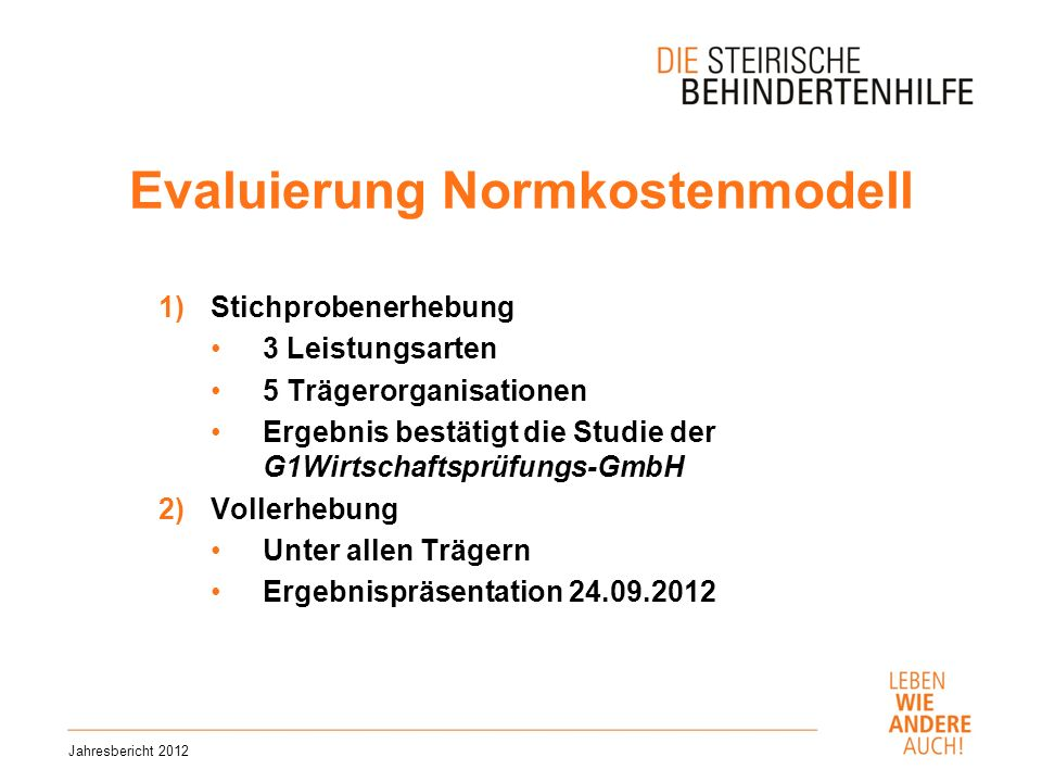 Evaluierung Normkostenmodell