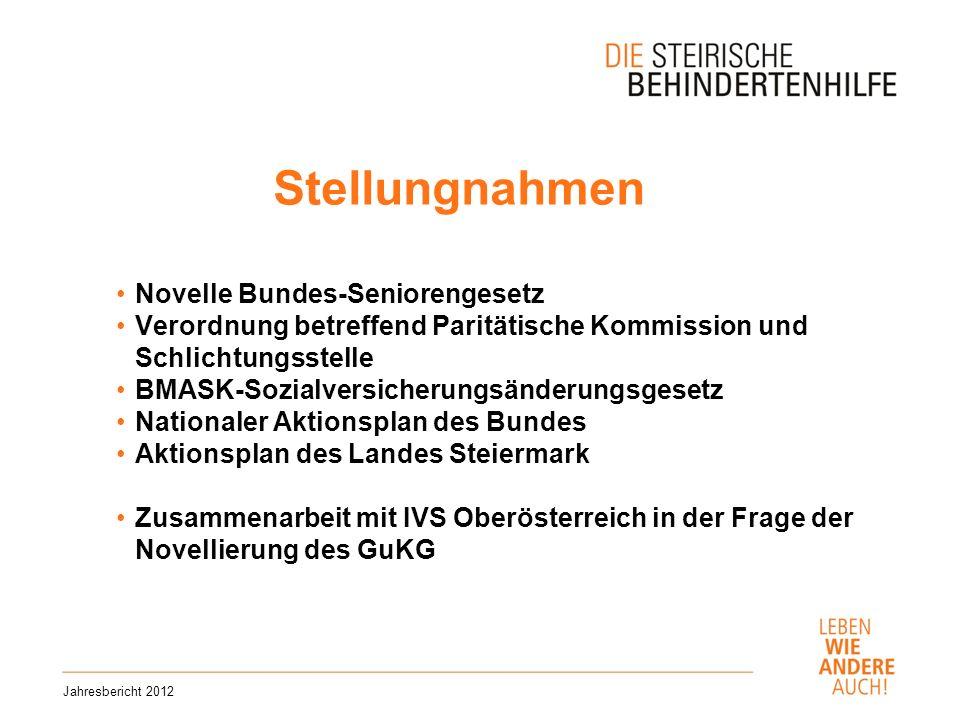 Stellungnahmen Novelle Bundes-Seniorengesetz