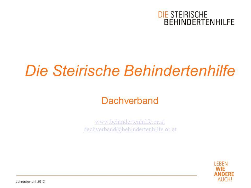 Die Steirische Behindertenhilfe Dachverband www. behindertenhilfe. or