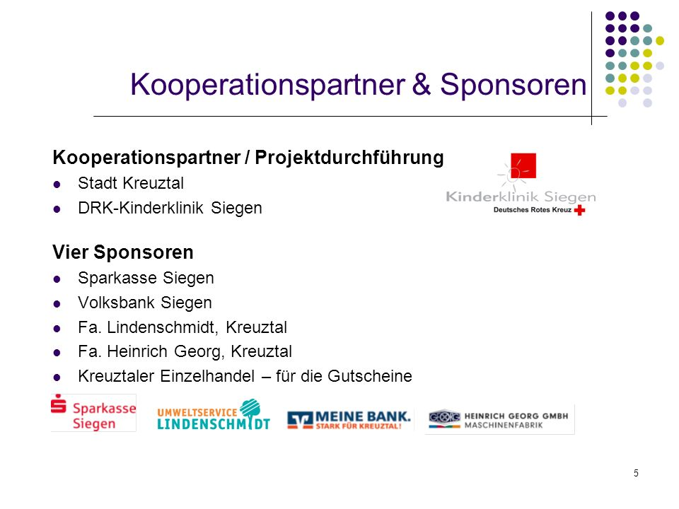 Kooperationspartner & Sponsoren