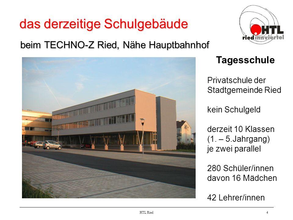 das derzeitige Schulgebäude