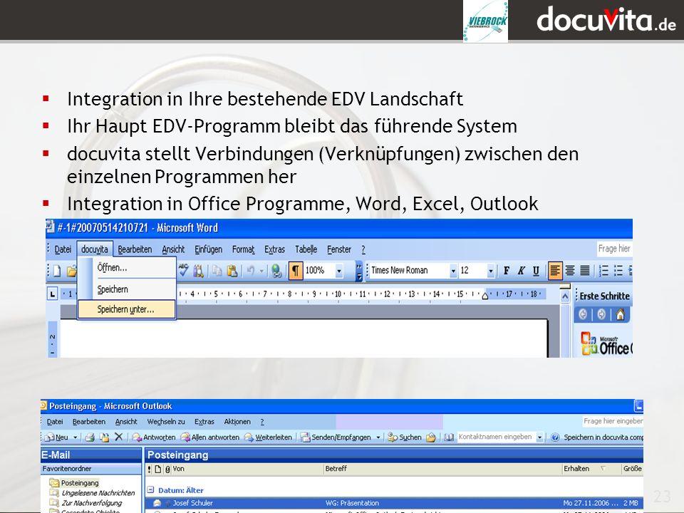 Integration in Ihre bestehende EDV Landschaft