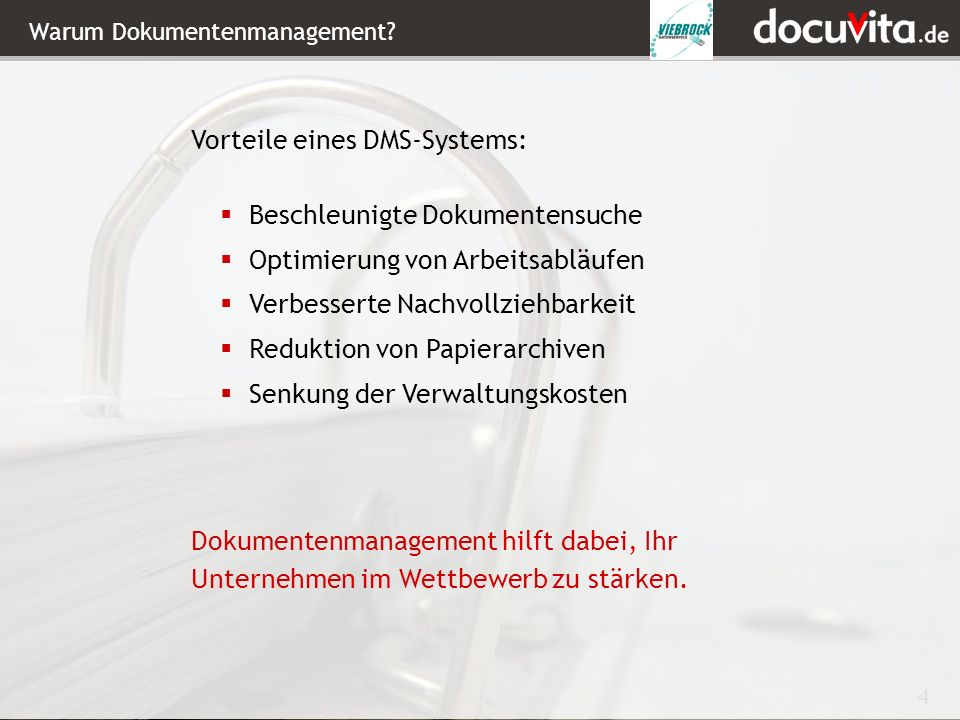 Warum Dokumentenmanagement