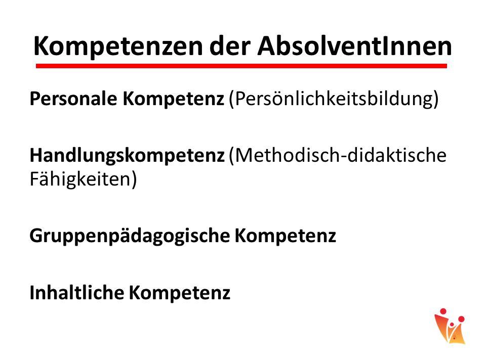 Kompetenzen der AbsolventInnen