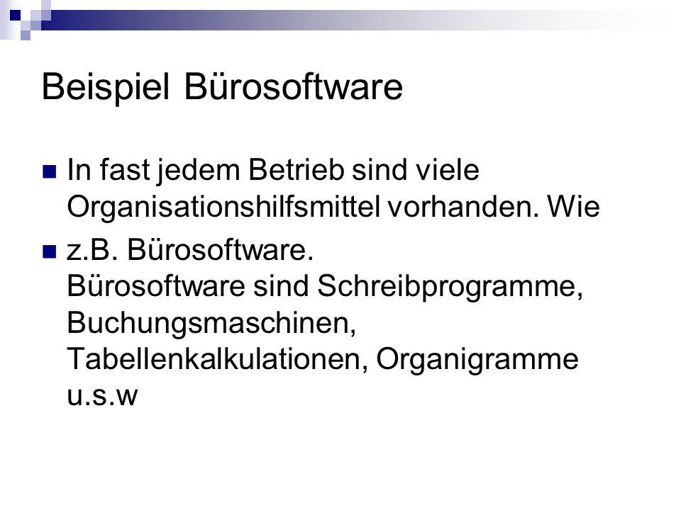 Beispiel Bürosoftware