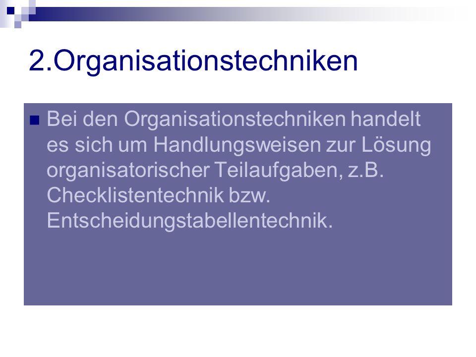 2.Organisationstechniken