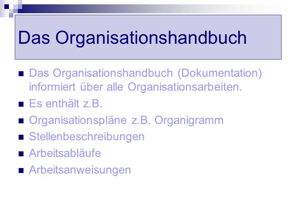 Das Organisationshandbuch