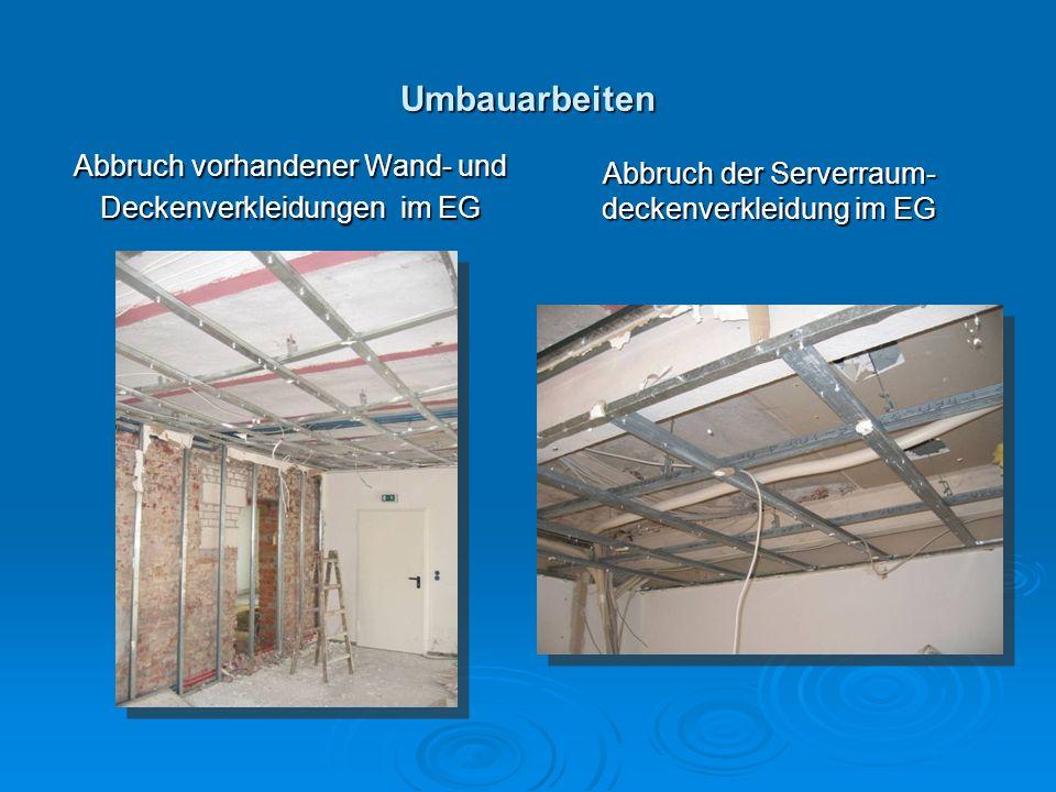 Umbauarbeiten Abbruch vorhandener Wand- und