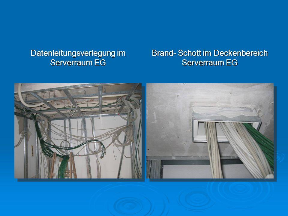 Datenleitungsverlegung im Serverraum EG
