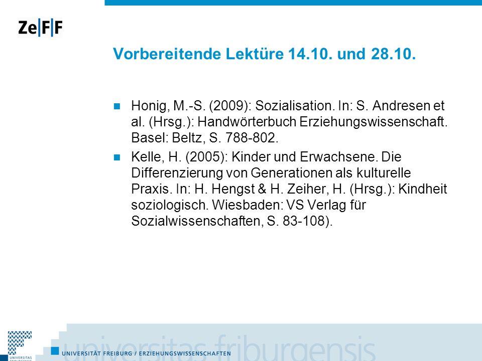 Vorbereitende Lektüre 14.10. und 28.10.
