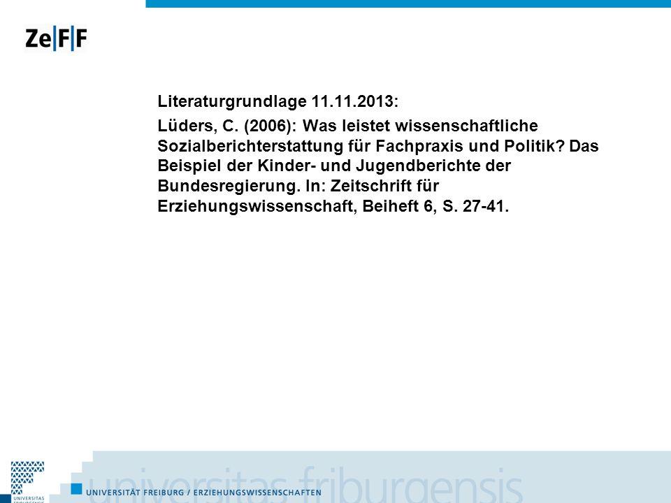 Literaturgrundlage 11. 11. 2013: Lüders, C