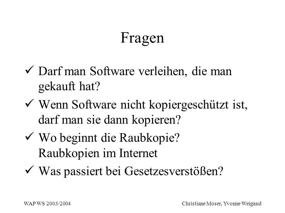 Fragen Darf man Software verleihen, die man gekauft hat