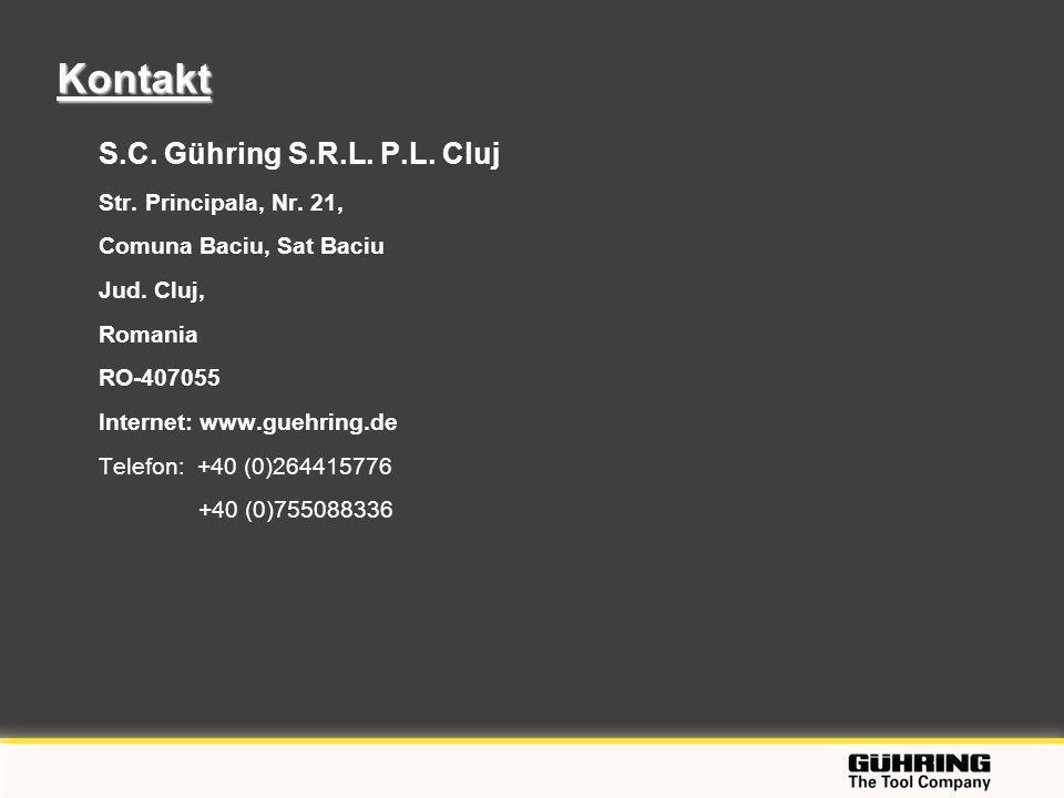 Kontakt S.C. Gühring S.R.L. P.L. Cluj Str. Principala, Nr. 21,