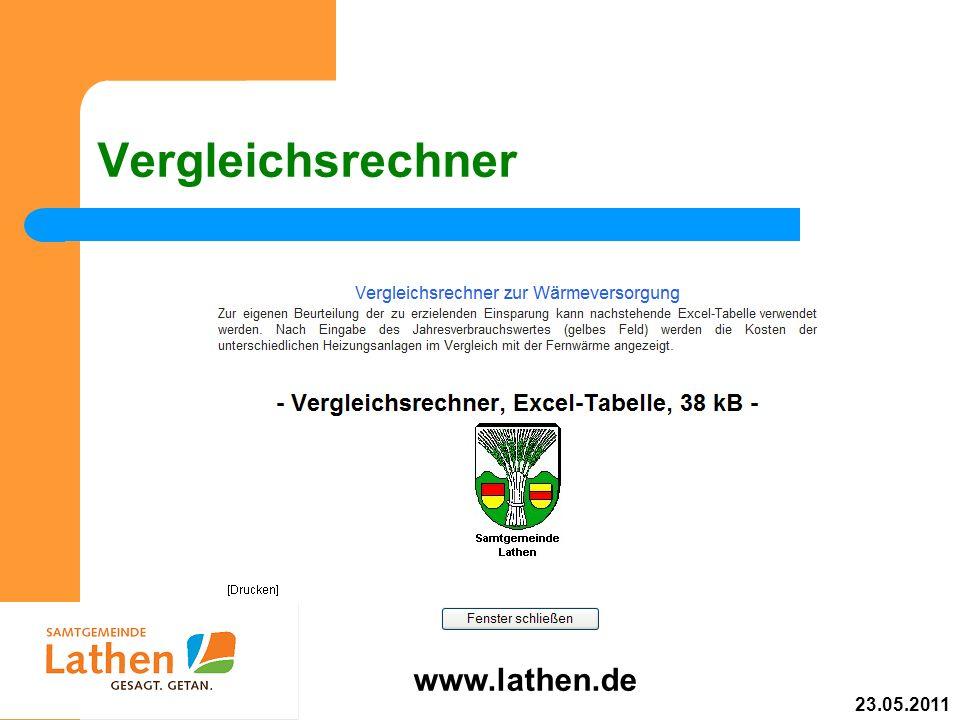 Vergleichsrechner www.lathen.de 23.05.2011
