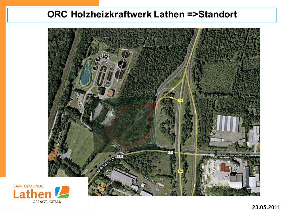 ORC Holzheizkraftwerk Lathen =>Standort