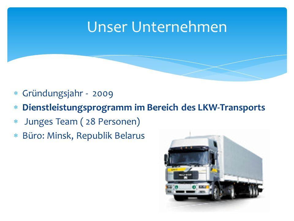Unser Unternehmen Gründungsjahr - 2009