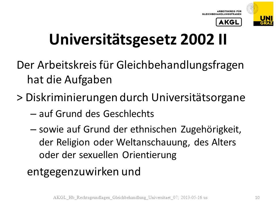 Universitätsgesetz 2002 II