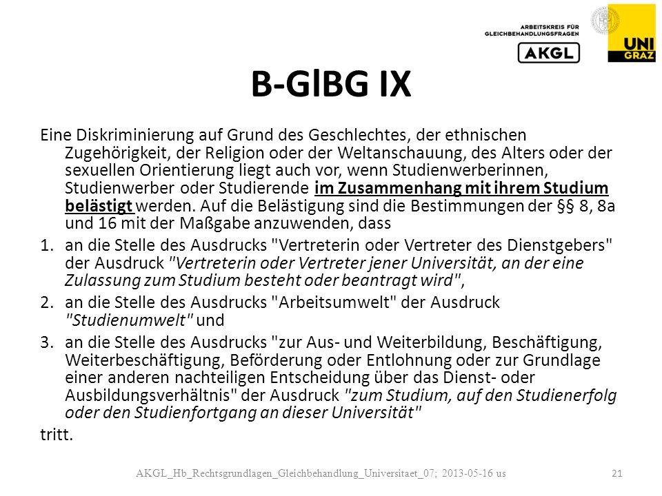 B-GlBG IX