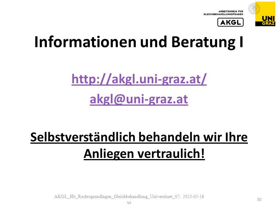 Informationen und Beratung I