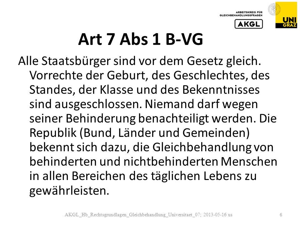 Art 7 Abs 1 B-VG