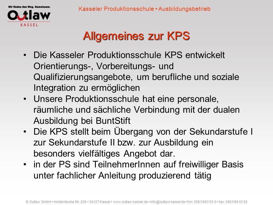 Kasseler Produktionsschule • Ausbildungsbetrieb
