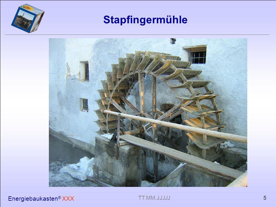 Stapfingermühle Energiebaukasten® XXX TT.MM.JJJJJ