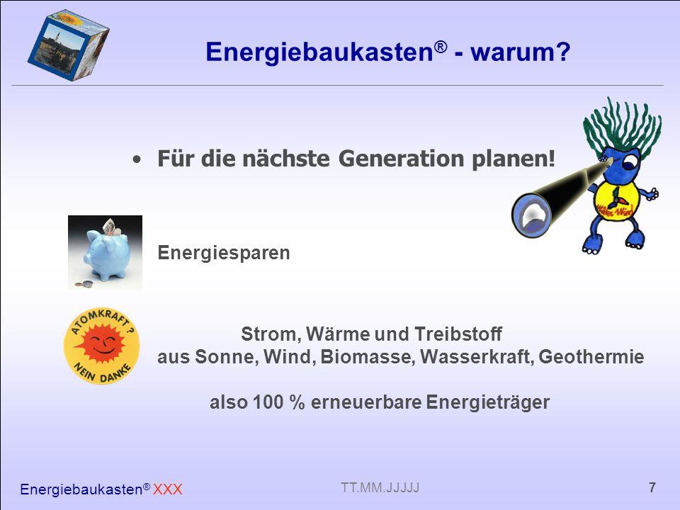 Energiebaukasten® - warum