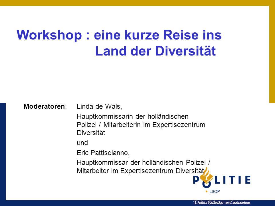Workshop : eine kurze Reise ins Land der Diversität