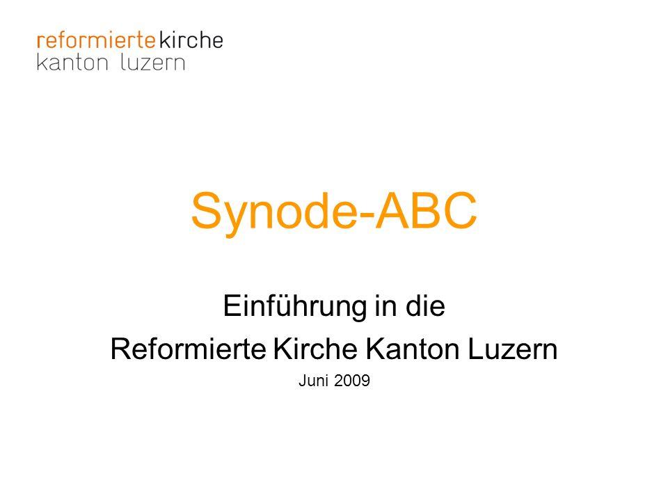 Einführung in die Reformierte Kirche Kanton Luzern Juni 2009
