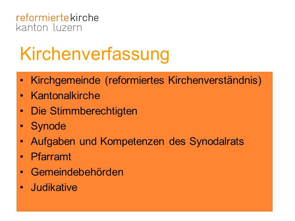 Kirchenverfassung Kirchgemeinde (reformiertes Kirchenverständnis)