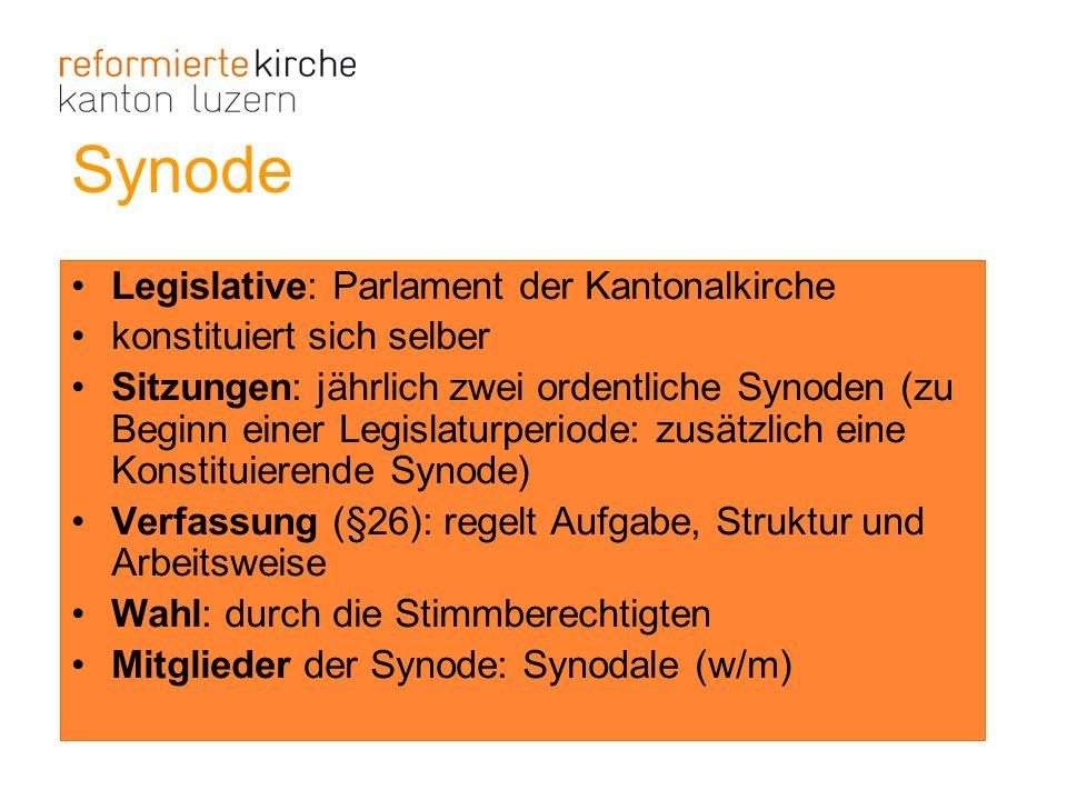 Synode Legislative: Parlament der Kantonalkirche