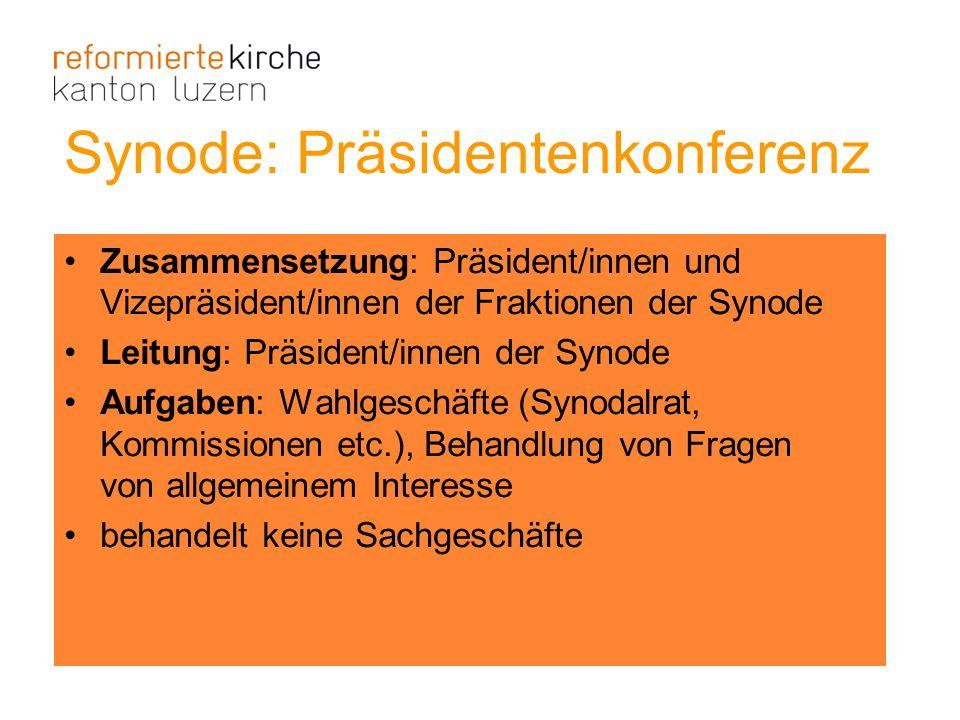 Synode: Präsidentenkonferenz