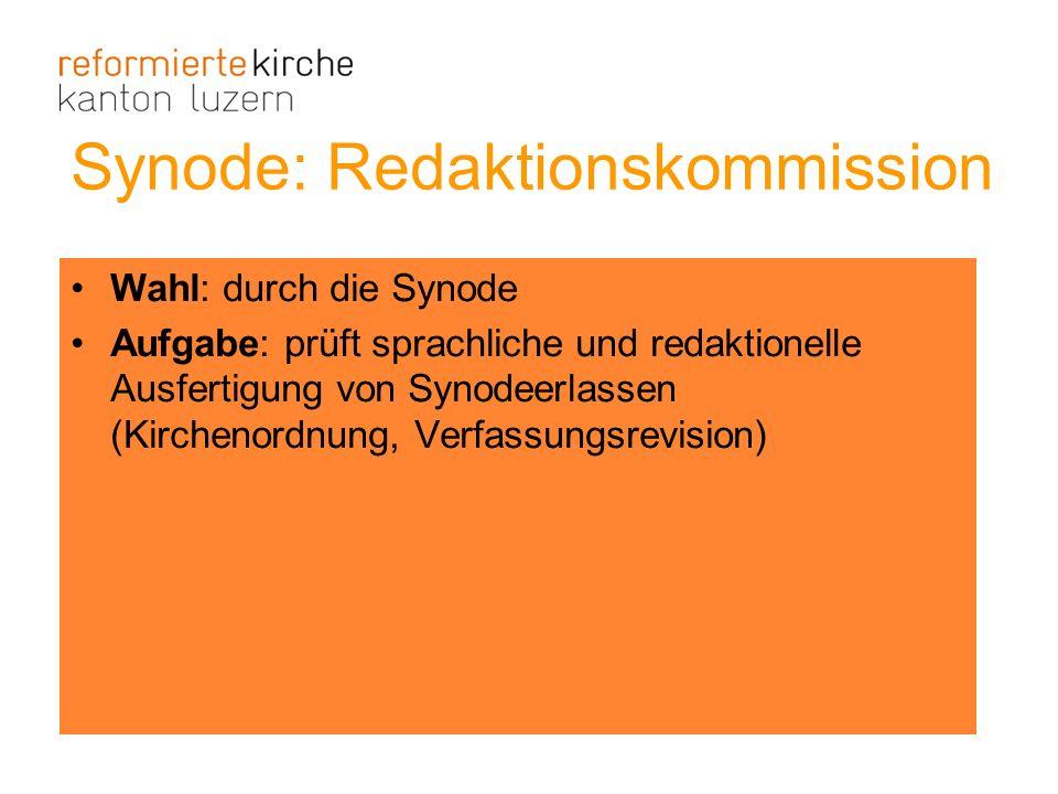 Synode: Redaktionskommission