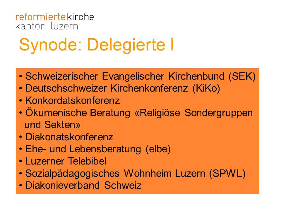 Synode: Delegierte I Schweizerischer Evangelischer Kirchenbund (SEK)
