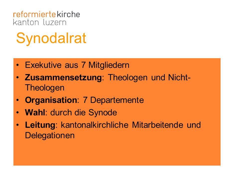 Synodalrat Exekutive aus 7 Mitgliedern