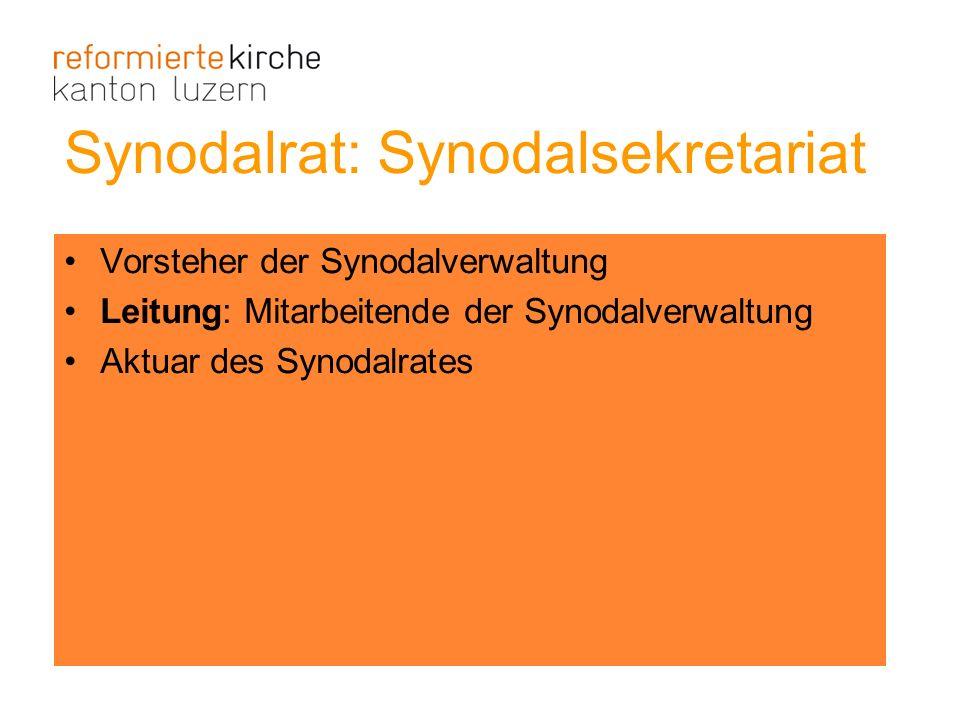 Synodalrat: Synodalsekretariat
