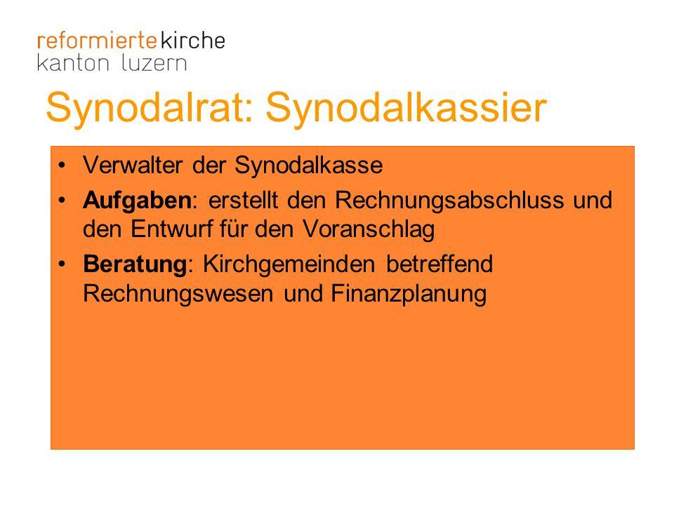Synodalrat: Synodalkassier