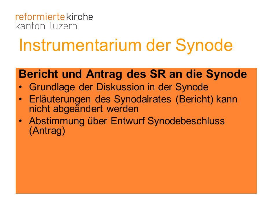 Instrumentarium der Synode