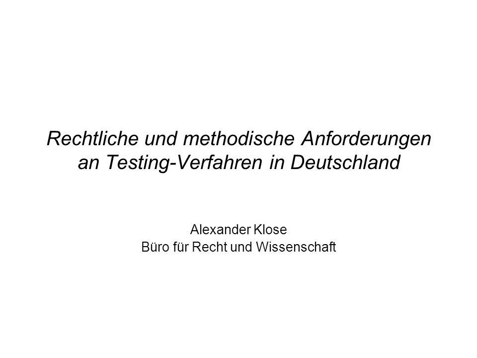 Alexander Klose Büro für Recht und Wissenschaft