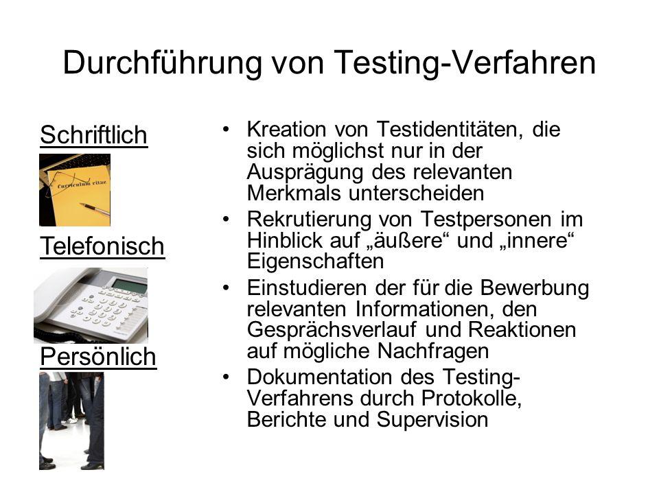 Durchführung von Testing-Verfahren