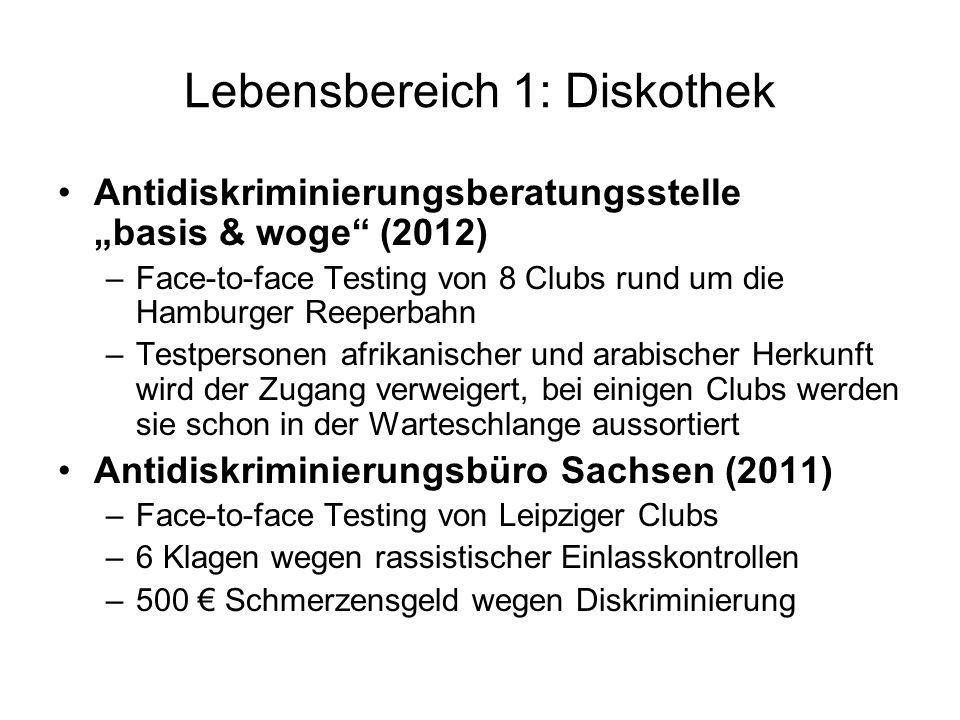 Lebensbereich 1: Diskothek