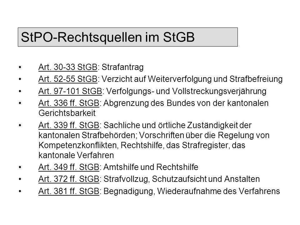 StPO-Rechtsquellen im StGB