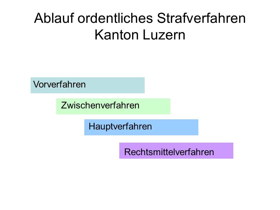 Ablauf ordentliches Strafverfahren Kanton Luzern