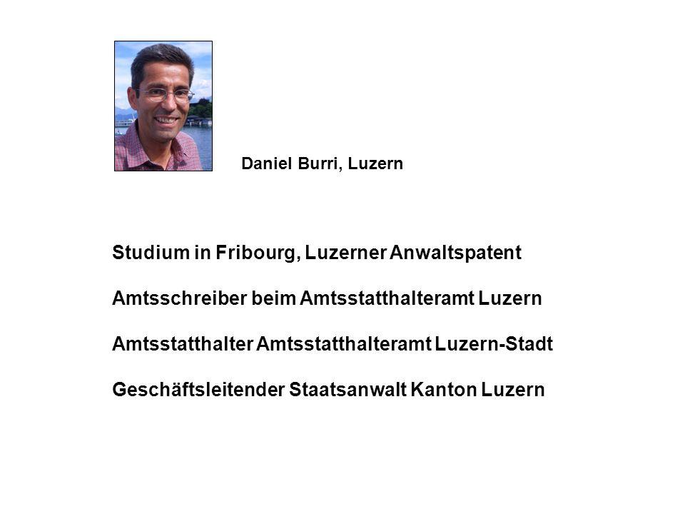 Studium in Fribourg, Luzerner Anwaltspatent