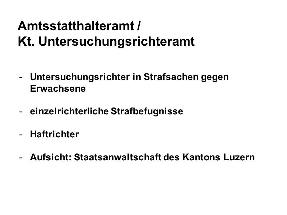 Amtsstatthalteramt / Kt. Untersuchungsrichteramt