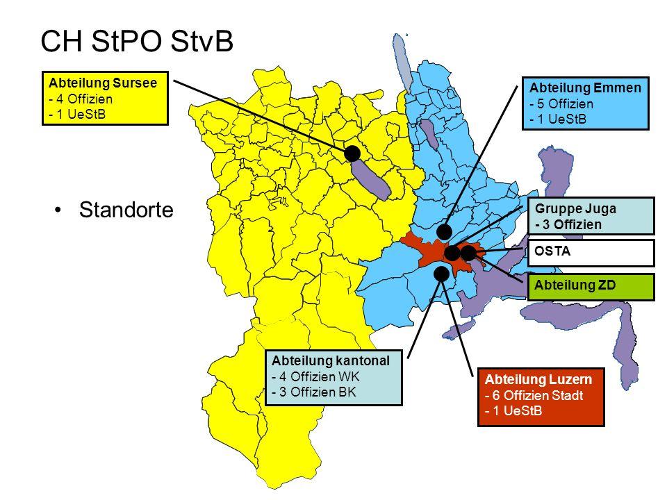 CH StPO StvB Standorte Abteilung Sursee Abteilung Emmen - 4 Offizien